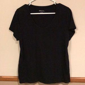 Women's Large Merona Black short sleeved t-shirt